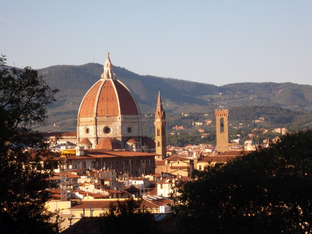 A view of the Duomo from the Boboli Gardens